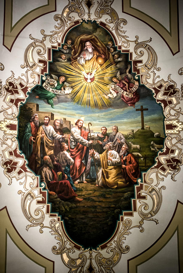 St Louis Cathedral Ceiling Art royalty-vrije stock afbeelding