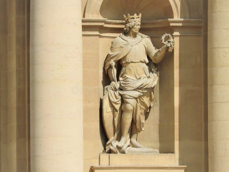 St Louis Cathedral et musée Les complexe Invalides, Paris, France est l'endroit d'enterrement de beaucoup de héros de la guerre e image stock