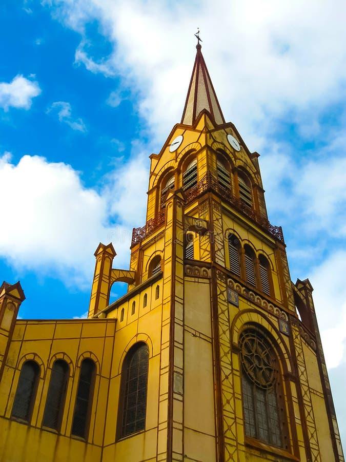 St Louis Cathedral, Fort de France, in het Franse Caraïbische Eiland Martinique stock fotografie