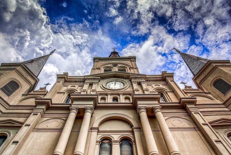 St Louis Cathedral 2 in Frans Kwart, Nieuwe Orlenas de V.S. 1-s royalty-vrije stock afbeeldingen