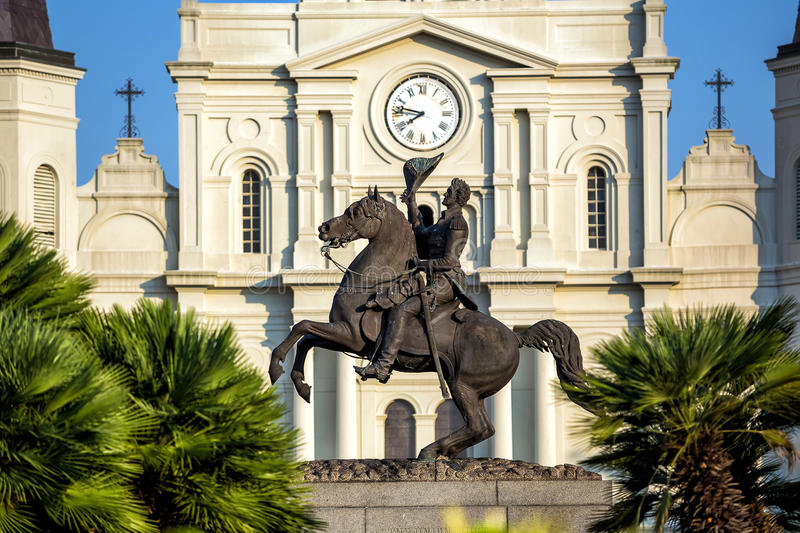 St. Louis Cathedral in the French Quarter, New Orleans, Louisiana USA stock images