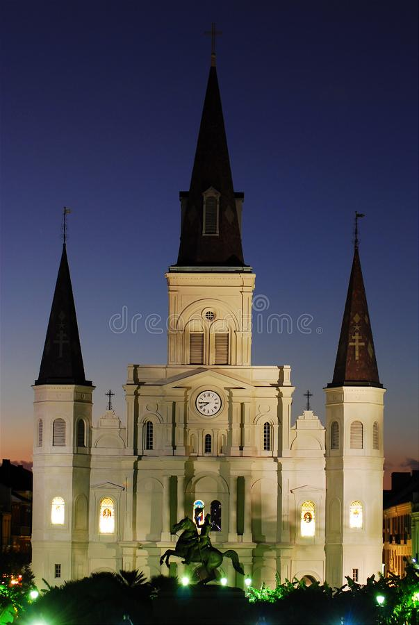 St Louis Cathedral a Jackson Square immagini stock