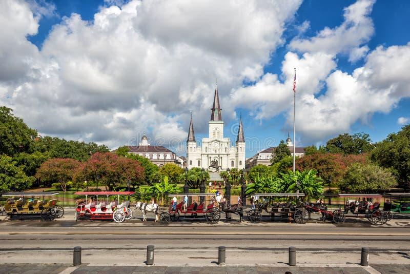 St Louis Cathedral nel quartiere francese, New Orleans, Louisian immagine stock libera da diritti
