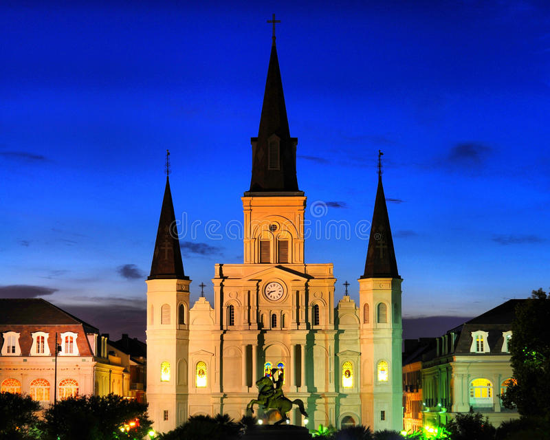 St. Louis Cathedral - New Orleans stock photos