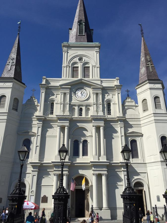 St Louis Cathedral New Orleans Louisiana arkivbilder