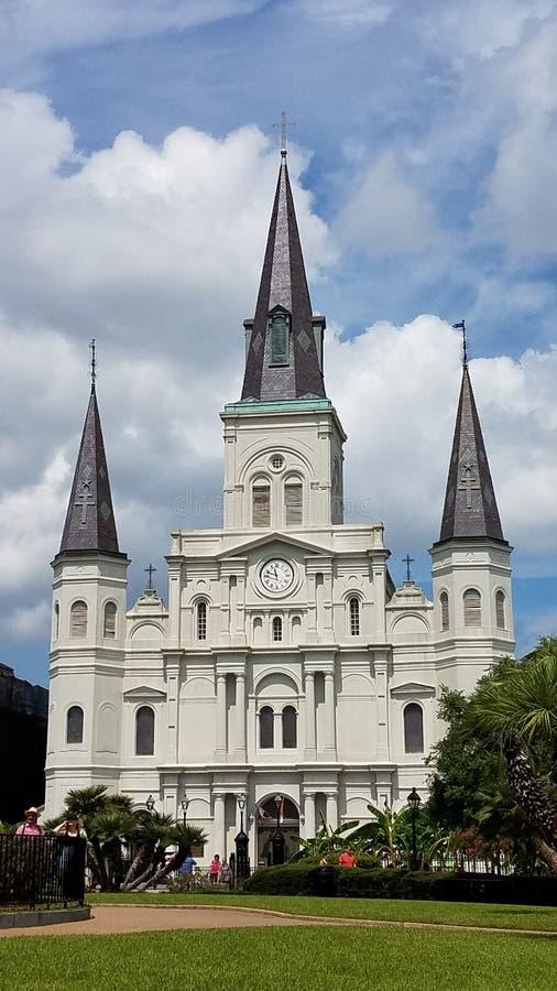 St Louis Cathedral Sending Prayers fotos de archivo