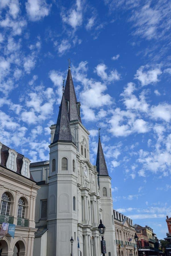 St Louis Cathedral sul Nord di Jackson Square a New Orleans fotografia stock libera da diritti