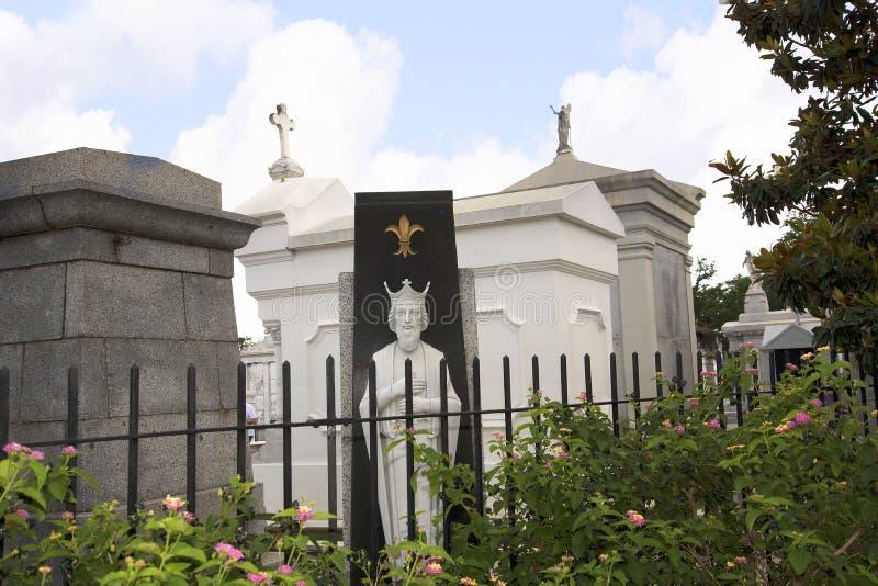 St Louis Cemetery #1, Één van de bovengenoemde grondbegraafplaatsen in New Orleans Louisiane de V.S. royalty-vrije stock afbeeldingen