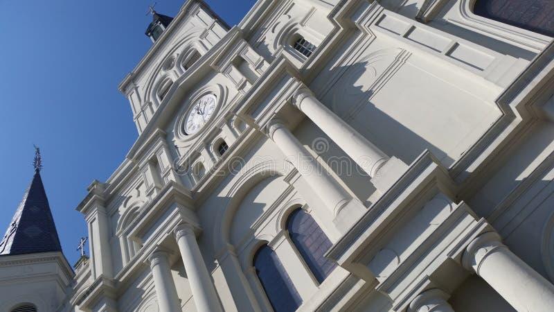 Facade of St Louis Church, New Orleans, Louisiana stock photography