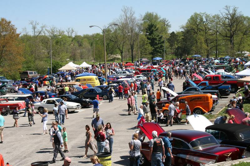 St Louis Easter Carshow 2019 XXIV royalty-vrije stock foto's