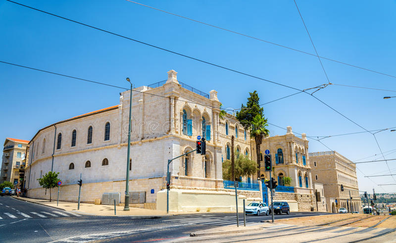 St. Louis French Hospital in Jerusalem, Israel royalty free stock photos