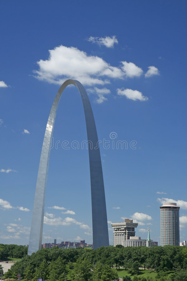 St Louis Gateway Arch. Gateway Arch in St Louis royalty free stock photo