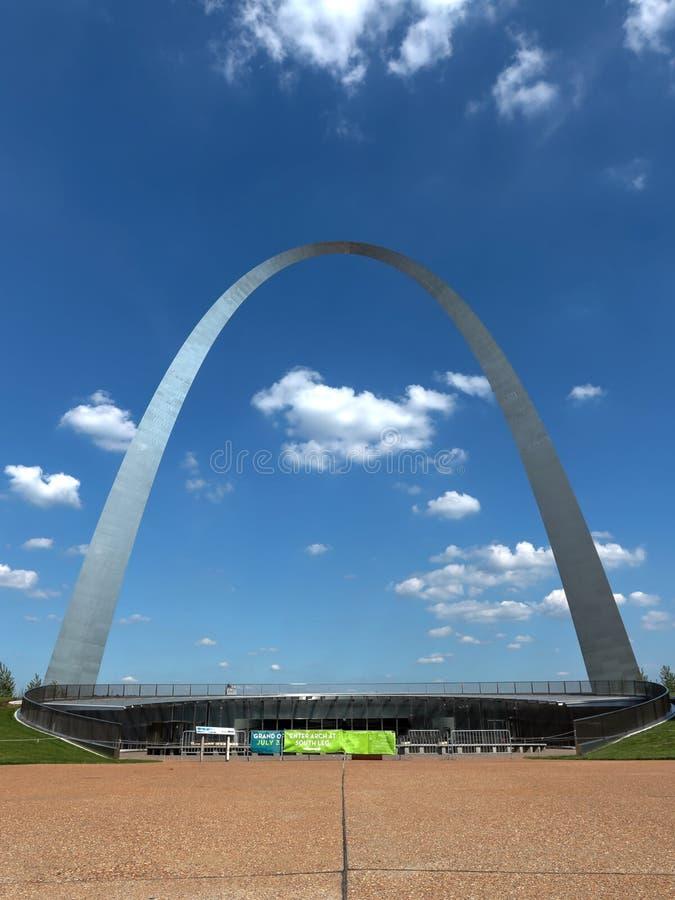 St Louis Gateway Arch in Missouri stock afbeelding