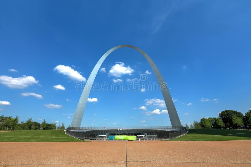 St Louis Gateway Arch in Missouri royalty-vrije stock foto's