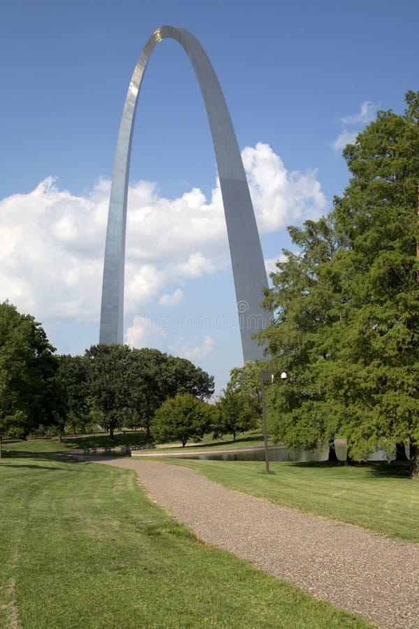 ST Louis Gateway Arch Nationa Park MES los E.E.U.U. fotos de archivo