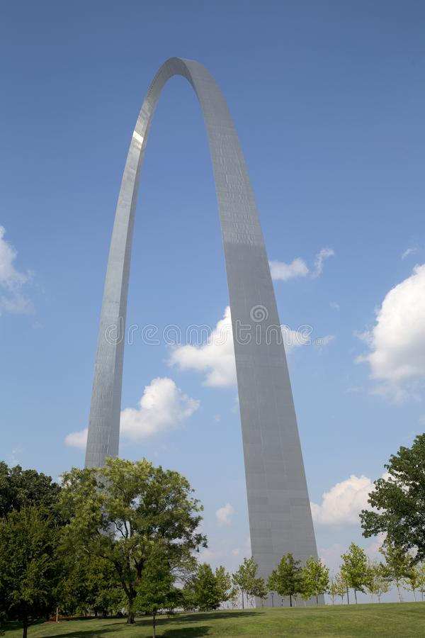 ST Louis Gateway Arch Nationa Park MES los E.E.U.U. imágenes de archivo libres de regalías