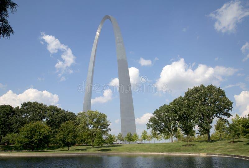 ST Louis Gateway Arch Nationa Park MES los E.E.U.U. imagen de archivo