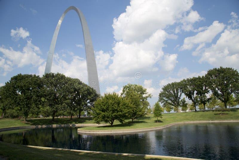 ST Louis Gateway Arch Nationa Park MES los E.E.U.U. foto de archivo