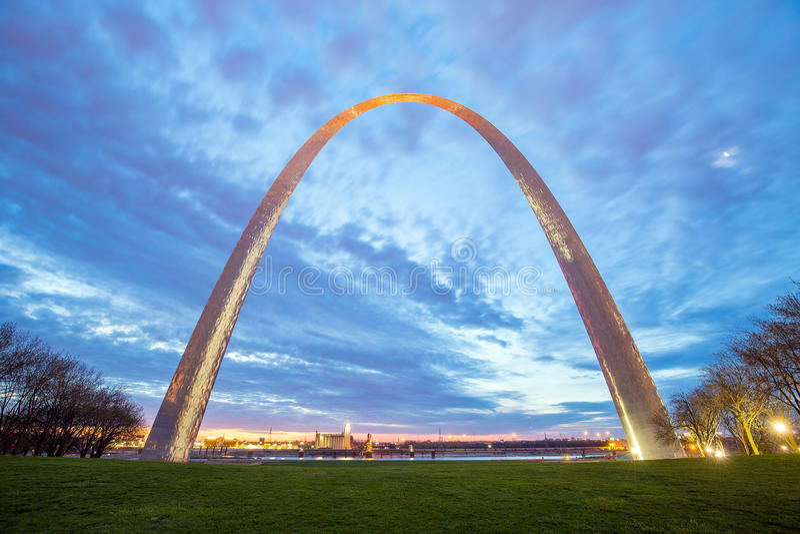 St Louis Gateway Arch nel Missouri immagine stock