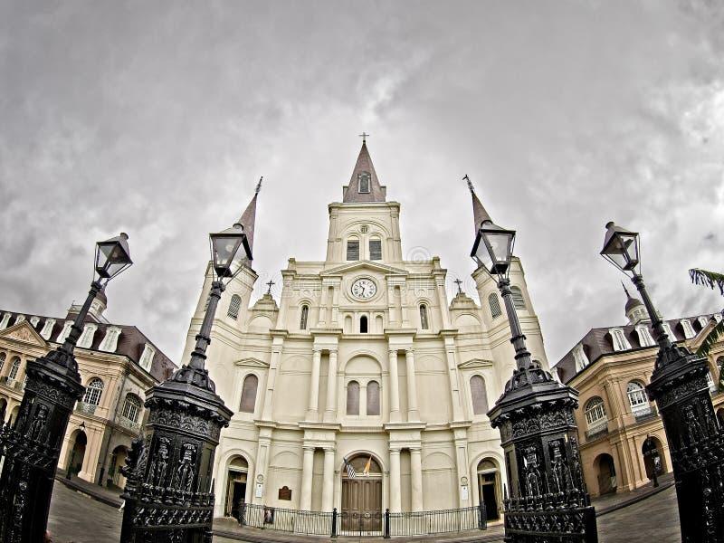 St Louis katedra w dzielnicie francuskiej Nowy Orlean los angeles zdjęcie royalty free