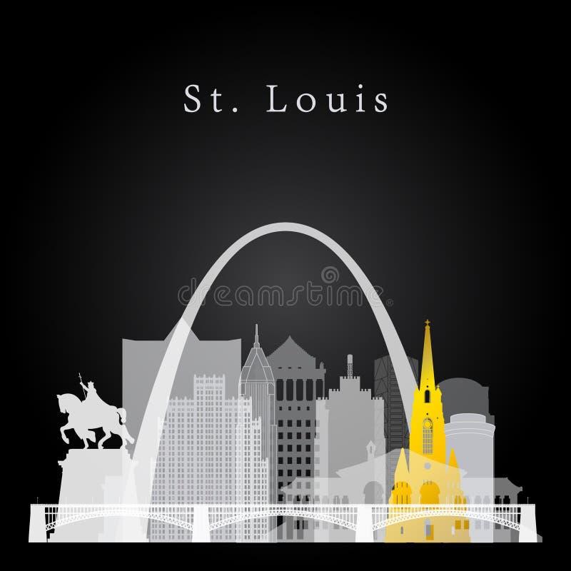 St Louis linii horyzontu tło royalty ilustracja