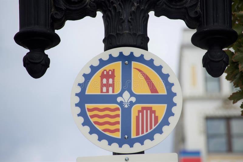 St Louis Missouri City Crest royaltyfria foton