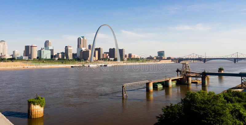 St Louis Missouri Downtown City Skline het Westen van de Booggateway stock foto
