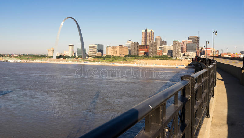 St Louis Missouri Downtown City Skyline het Westen van de Booggateway royalty-vrije stock foto