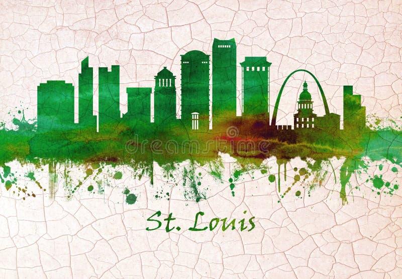 St Louis Missouri horisont royaltyfri illustrationer
