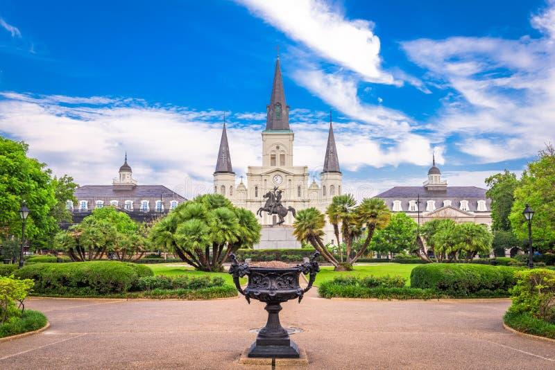 st louis New Orleans собора стоковые изображения rf
