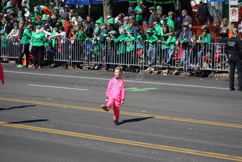 St Louis St Patrick Day Parade Dansers 2019 VIII royalty-vrije stock fotografie