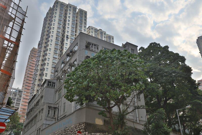 St Louis School på Shek Tong Tsui arkivbilder