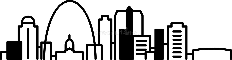St Louis Skyline Icon royaltyfri illustrationer