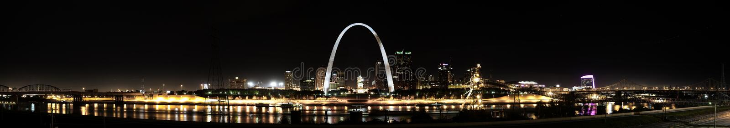 St. Louis Skyline panoramic royalty free stock photo