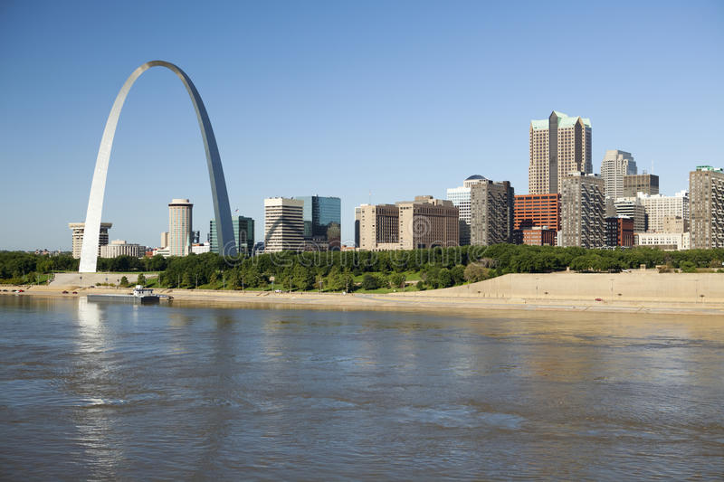 St Louis, skyline photography royalty free stock image