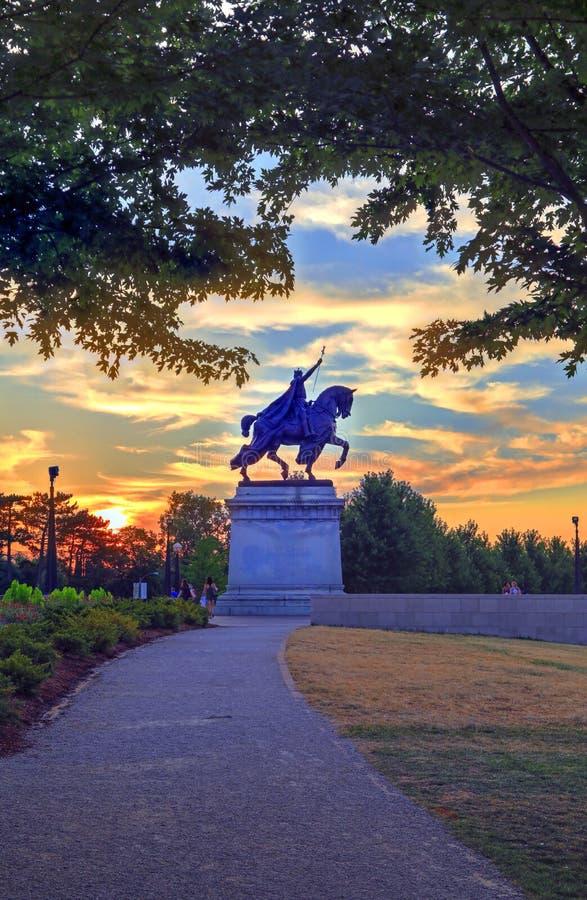 St Louis statua zdjęcie royalty free