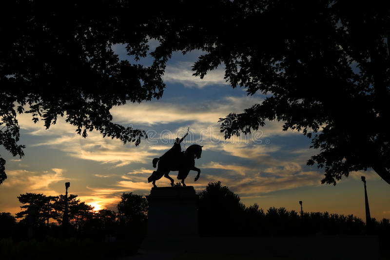 St Louis statua zdjęcia stock