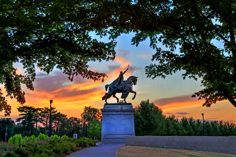 St Louis statua obrazy stock