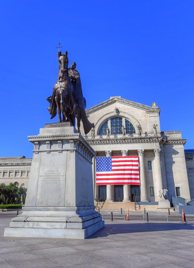 St Louis Statue fotografía de archivo libre de regalías