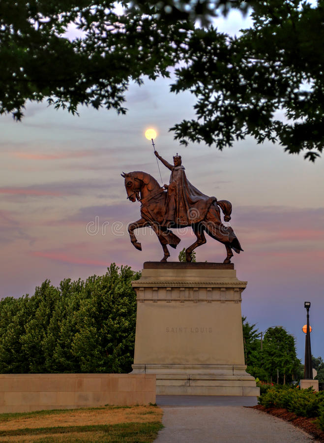 St Louis Statue foto de archivo libre de regalías