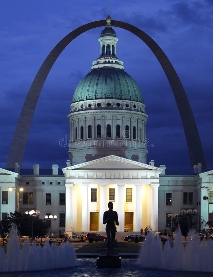 St Louis - United States of America. The Gateway Arch in St. Louis in the United States of America royalty free stock image