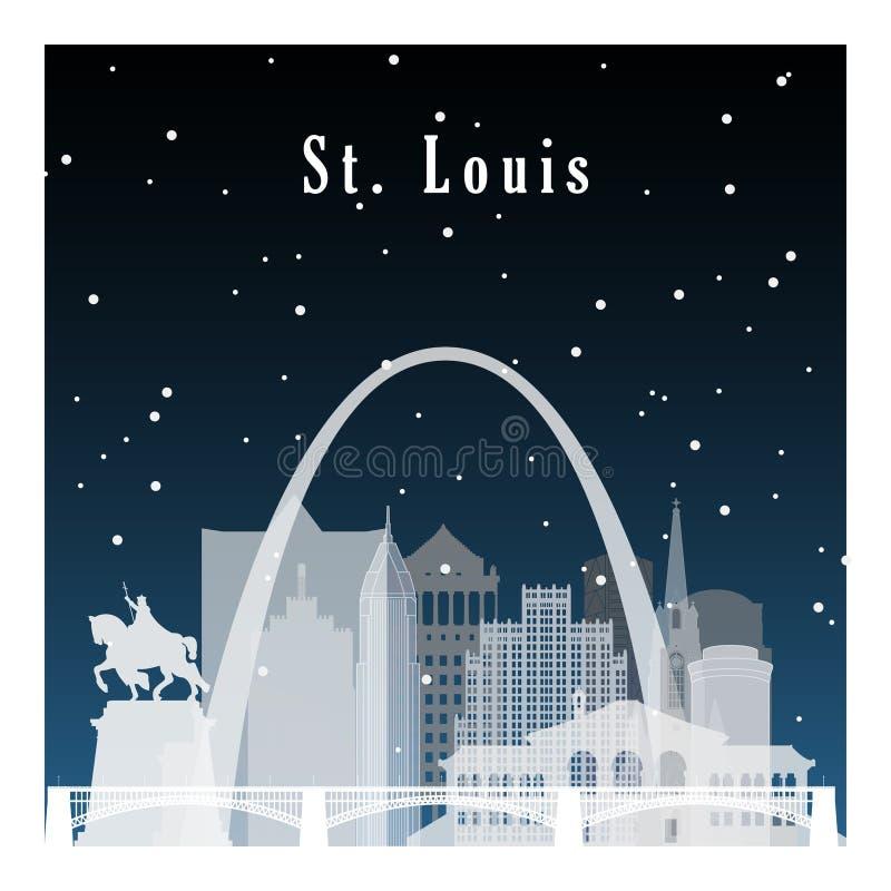 St Louis vinter vektor illustrationer