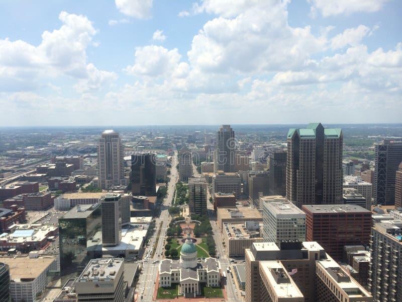 St Louis widok od brama łuku obraz royalty free