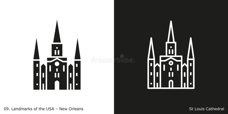 St- Louiskathedrale in New Orleans lizenzfreie abbildung