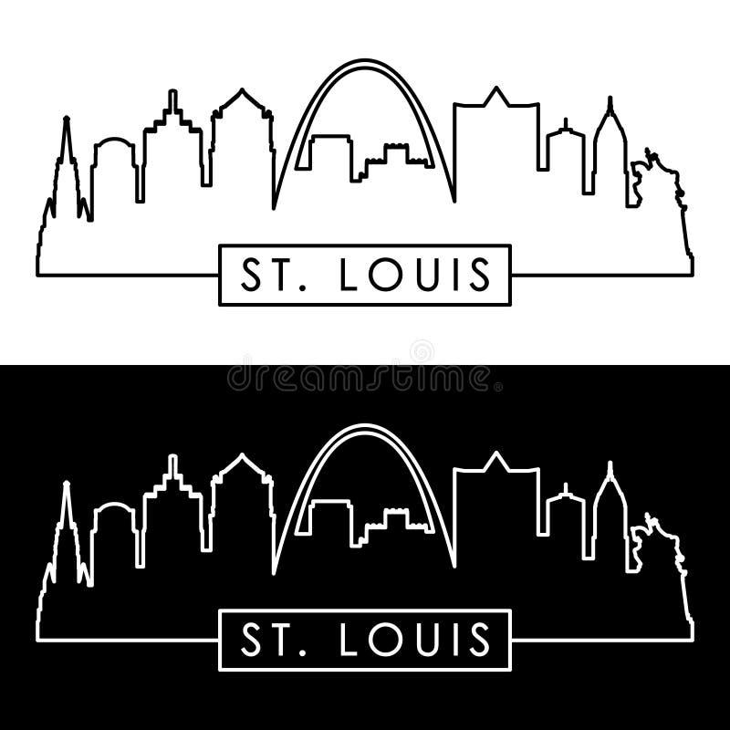 St- LouisSkyline lineare Art stock abbildung