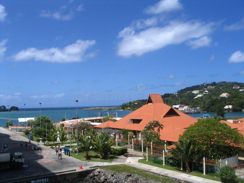 st lucia острова стоковое изображение