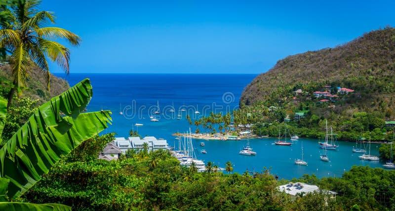 St. Lucia Cove lizenzfreies stockfoto