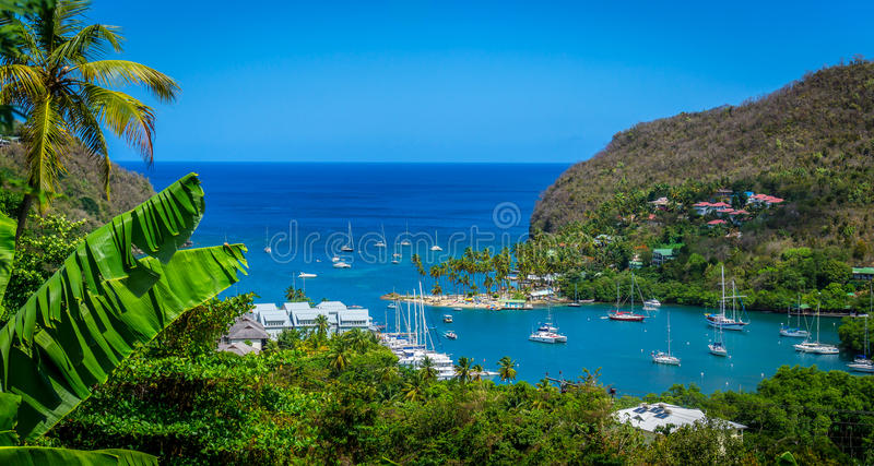 St. Lucia Cove royalty free stock photo