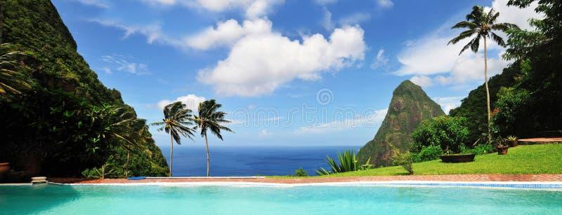 St. Lucia, eine Paradies-Insel lizenzfreies stockbild