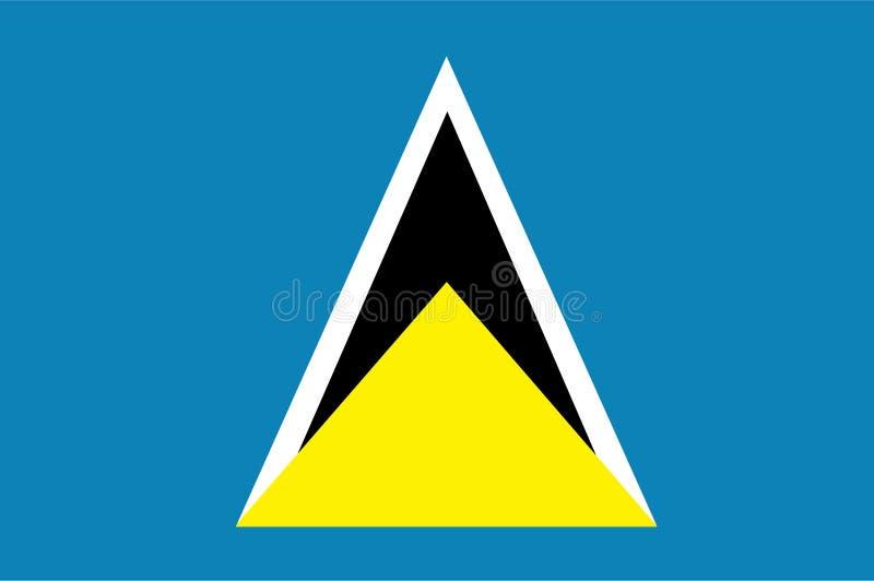 St. Lucia-Flaggenvektor Illustration der St. Lucia stock abbildung